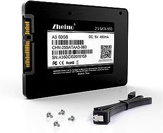 Zheino SATA SSD 60GB 内蔵SSD 2.5インチ 7mm厚 3D Nand 採用 SATA3 6Gb/s