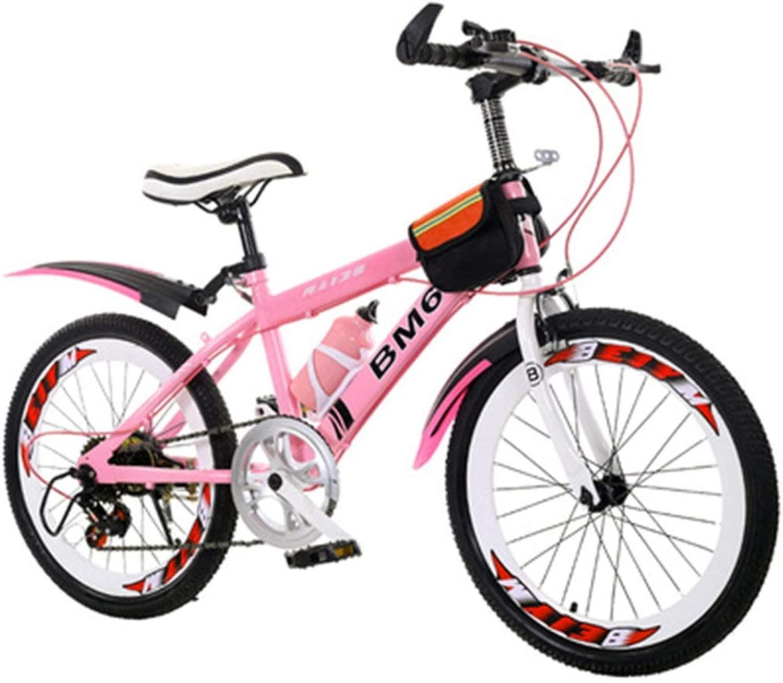 Tricycles スクーター 子供 学生 自転車 夏 自転車 子供 自転車 アウトドア 旅行 自転車 山 クロスカントリースピード 車 非常にクールなバイク 男の子 女の子向け 3歳~15歳 22inches ピンク