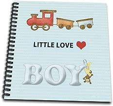 """تي شيرت Beverely turner تصميم الأشياء Baby–choo choo الذيل ، الصغار مطبوع عليه Love ، للأولاد مع Monkey pinned ، مظهر ً ا من اللباد–كتاب رسم, 12 by 12"""""""