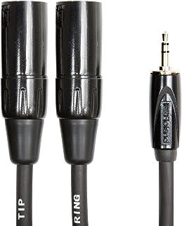 Cable de interconexión balanceado de la serie Black de Roland — De TRS de 1/8 de pulgada a dos conectores XLR macho, 3m de longitud - RCC-10-352XM