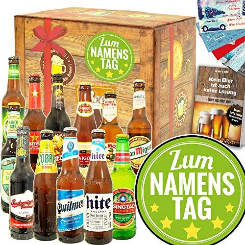 Zum Namenstag/Geschenk zum Namenstag Mann/Bier Paket Welt