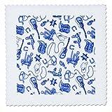 3dRose qs_58496_2 Blue N White Guitars N Cowboy Boots
