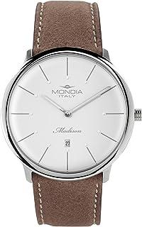Mondia Italy Madisson Mens Analog Japanese Quartz Watch with Leather Bracelet MI752-1CP