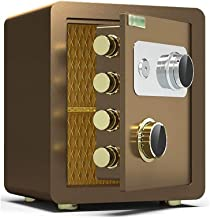 JJYPY Safe and Lock Box - Safe Box, Safes and Lock Boxes, Money Box, Safety Boxes for Home, Digital Safe Box (Color : Coff...