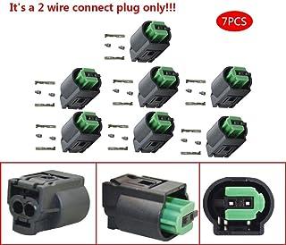 JinQiu 10pcs 2 Wire Plug Bypass Emulator Fit for BMW E34 E32 E46 E36 E38 E39 Z3 X5-E53 Seat Occupancy Mat Airbag Seat Sens...