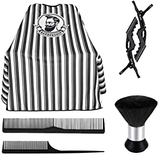 Hair Cutting Kits Barber Cape Professional Barber Salon Cape With Neck Duster Brush Hair Comb Hair Clips Waterproof And St...