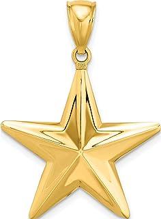 FB Jewels Solid 14K Yellow Gold Paramedic//Emt Symbol Pendant