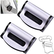 Car Seat Belt Adjuster, Seatbelt Clips | Smart Adjust Seat Belts to Relax Shoulder Neck Give You a Comfortable and Safe Experience | 2PCS SilveryB