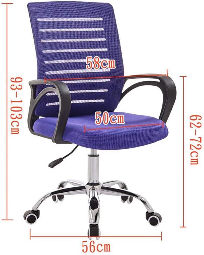 ZXGQF Chaise de Bureau, Fauteuil Ergonomiqu, Pivotant, Hauteur réglable, Dossier Respirant en Toile, Convient pour Le Travail à Domicile ou au Bureau (A5) A1