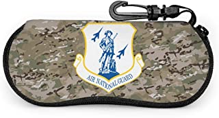 Air Force Air National Guard Sunglasses Soft Case Portable Travel Zipper Eyeglass Box Bag With Belt Clip