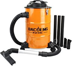BACOENG 5.3-Gallon Ash Vacuum Cleaner with Double Stage Filtration System, Advanced Ash Vac