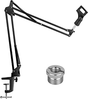 "InnoGear Upgraded Microphone Suspension Stand with 3/8"" to 5/8"" Screw Adapter Mic Clip Adjustable Boom Studio Scissor Arm Stand for Blue Yeti Snowball Yeti Nano Yeti x and other Microphone"