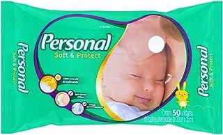Toalhas Umedecidas Soft and Protect, Personal, Branco, 50 unidades