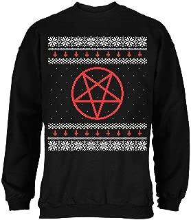 Old Glory Satanic Pentagram Ugly Christmas Sweater Black Adult Sweatshirt