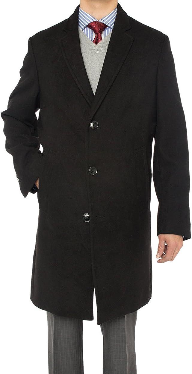 Luciano Natazzi Italian Men's Overcoat Wool Blend Trench Walking Coat Topcoat