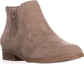 Giani Bernini Womens Falica Faux Suede Stacked Heel Booties