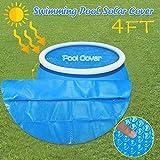 VWsiouev copertura solare per piscina, copertura rotonda per piscina, 8 piedi sopra il suolo, protezione blu, 152X152CM/5ft