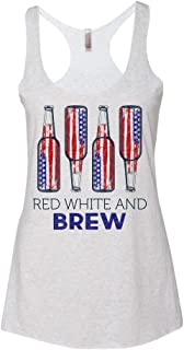 red white and beer shirt