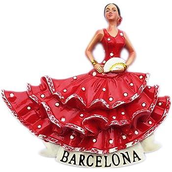 Weekino Souvenir Bailarina de Flamenco Barcelona España Imán de Nevera Resina 3D Viaje en la Ciudad Recuerdo Recolección Colleciton Pegatina: Amazon.es: Hogar