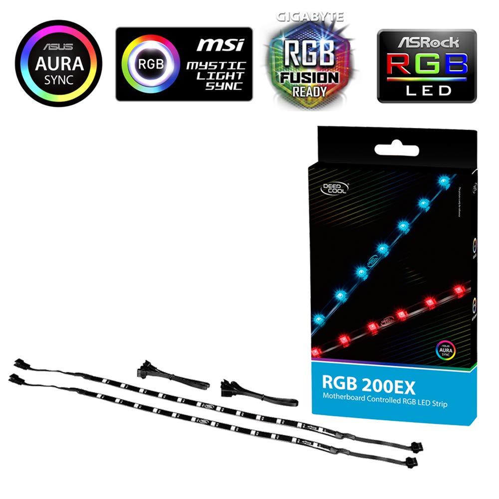 DEEPCOOL RGB 200EX 550mm Cintas de Luz LED RGB para Caja de ...