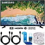 SAMSUNG UN50NU6900 50' NU6900 Smart 4K UHD TV (2018) w/Accessories Bundle Includes, 2X 6ft HDMI Cable, LED TV Screen Cleaner (Large Bottle) and SurgePro 6-Outlet Surge Adapter w/Night Light