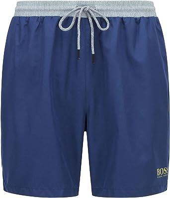 BOSS Mens Starfish Quick-Drying Swim Shorts with Contrast Waistband