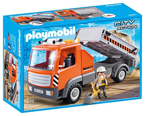 Playmobil Construcción - City Action Camión Contenedor Vehículos de Juguete, Color Multicolor (Playmobil 6861)
