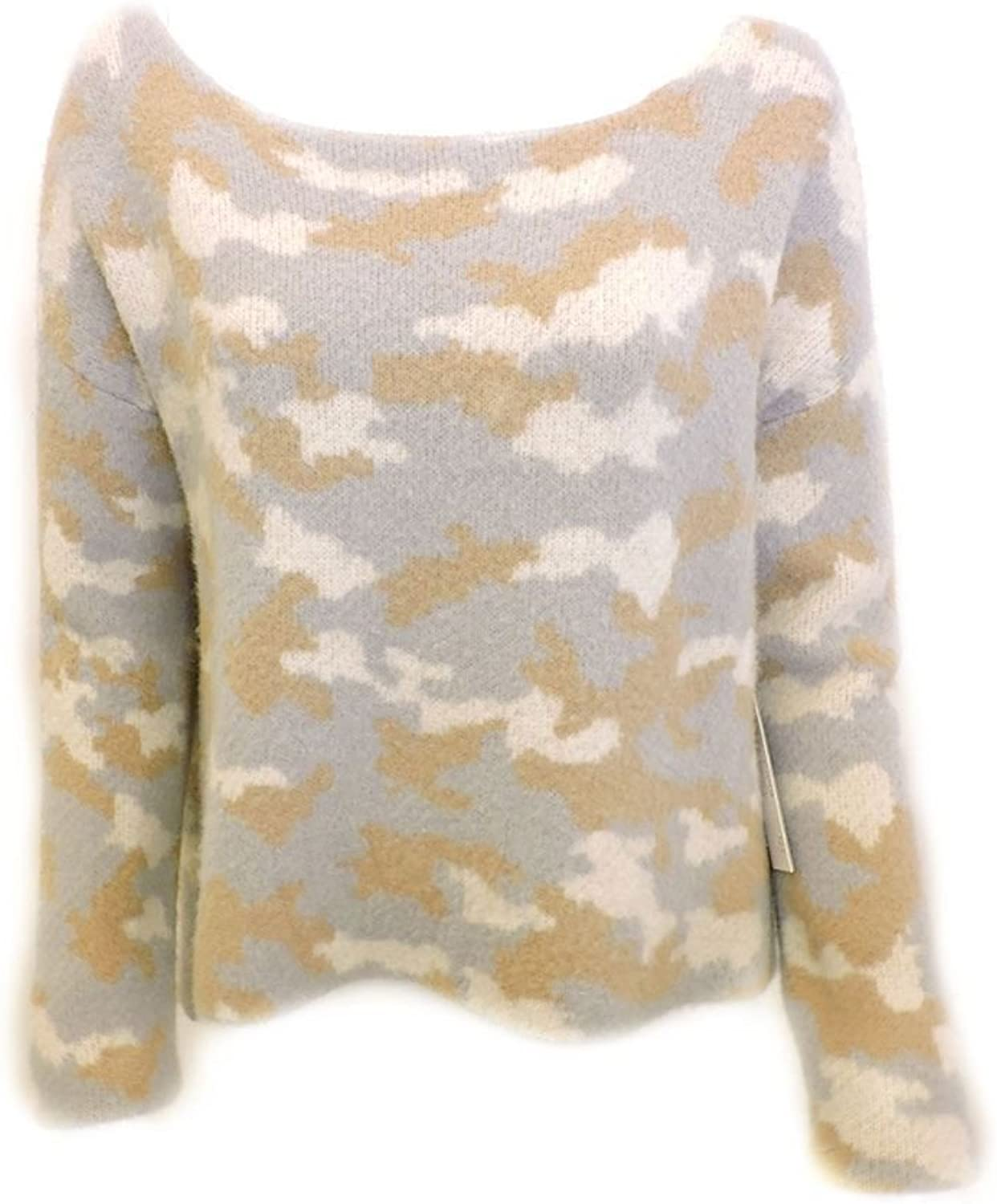 Central Park West  Camo Sweater  Camel