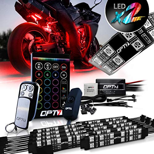 SUZCO Motorcycle Atmosphere Accent Glow Neon Light Replacement Accessories Wireless Remote Controller Kit with the Bluetooth Control Receiver