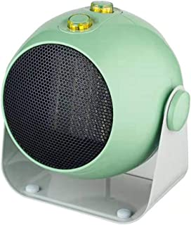 ELEXERT Calefactor Portatil Electrico,Mini Calefactor Baño,Función Eco Silence 3 Funciones Ajustables Termostato RegulableSeguro Protección Sobrecalentamiento para Dormitorio Oficina Hogar,Green