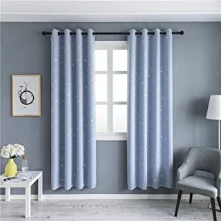 MANGATA CASA Blackout Curtains with Night Sky Twinkle...