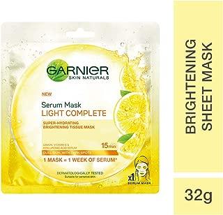 Garnier Skin Naturals, Light Complete, Face Serum Sheet Mask (Yellow), 32g