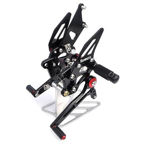 KEMIMOTO, 2008-2012 Ninja 250R Rearsets Rear Sets Footpegs CNC Adjustable for KAWASAKI Ninja250R