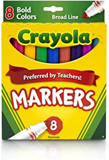 Crayola - 8 ct. Bold, Broad Line Markers