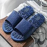 WUHUI Baño Sandalia Suave Zapatos De Piscina Casa Hogar Slide, Chanclas Unisex Adulto, Zapatillas de Masaje de baño Antideslizantes de Verano para Mujer, Deep Blue_40-41