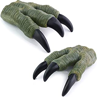 Liberty Imports 2 Pack Set of Dinosaur Oversized Dino Velociraptor Claws for Adult Kids Cosplay