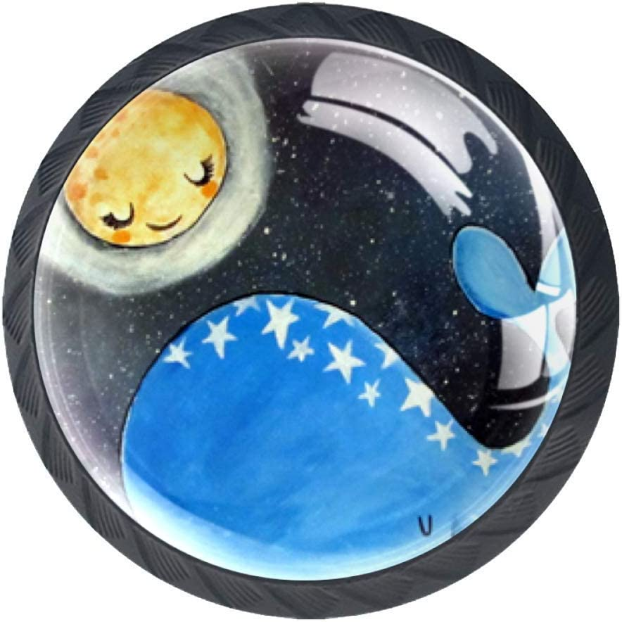 Moon Rare Night Baby Whale Drawer Knob Handle Cupboard with Scre Pull