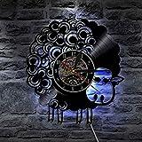 Unbekannt Lyq 12' Schaf Tiere Led Vinyl Uhr Mauer Licht Beleuchtung Farbe Veränderung Jahrgang Lp Handarbeit Kunst Dekorativ Lampe Fern Regler