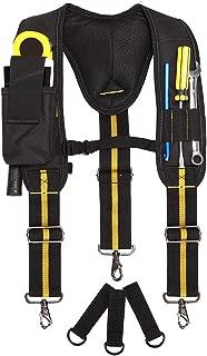 Work Suspenders-Padded Tool Suspenders With Phone Pocket,Chest Strap, Pencil Sleeve. Adjustable Straps, Suspenders Loop Heavy Duty Work for Carpenter Electrician Work Suspension Rig.