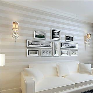 Papel tapiz KeTian para la pared 0.53 m x 10 m=5.3 m2 diseño de rayas estilo europeo simplificado moderno,adecuado para la Sala de estar o el dormitorio