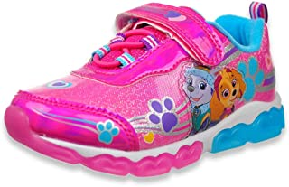 Nickelodeon Paw Patrol Girls Light Up Lightweight Sneakers (Toddler/Little Kid), Pink/Blue Everest, Size 10 Toddler'