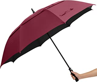 ABCCANOPY Golf Umbrella Double Canopy Large Windproof Waterproof Sunproof Fabric UPF 50+ Blocking UV 99.98% Auto Open Big Stick Umbrella,for Car and Outdoor Use