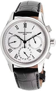 Frederique Constant Silver Dial Leather Strap Men's Watch FC-760MC4H6