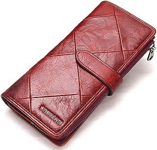 Trifold Wallets for Men Leather, Large Capacity Wallet for Men, Stitching Long Men'S Wallet, Money Clip Wallets for Men wi...