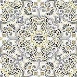 WallPops FP2947 Antico - Azulejos para suelos (autoadhesivos, autoadhesivos), multicolor