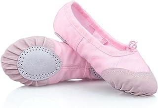 9124d12333e88 DoGeek Chaussure de Ballet Ballerine Fille Chaussure de Danse Chaussures  Pilates Chaussures Yoga Gymnastique Split Plate