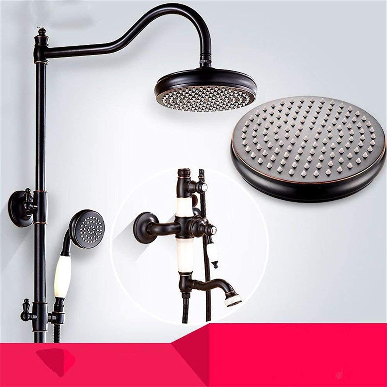 Retro Badezimmer Dusche, voll Kupfer Krper wand in die dunkle Jade drei block Kupfer dusche Dusche Dusche
