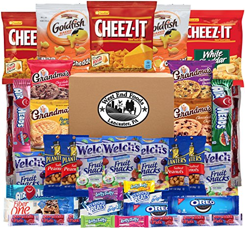 Snack Pack Variety Assortment of Fruit Snacks, Candy, Cookies, Crackers (Count 40)