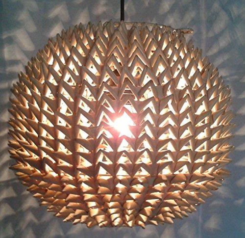 Deckenlampe / Deckenleuchte, in Bali handgemacht aus Naturmaterial, Reisstroh - Modell Dolorosa / Hängeleuchten aus natürlichen Materialien