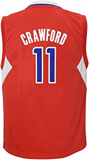 adidas Jamal Crawford Los Angeles Clippers NBA Boys Red Official Road Replica Basketball Jersey